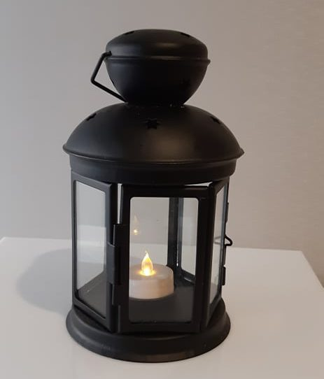 black-table-lantern